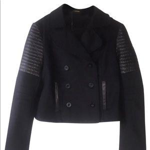 Rebecca Minkoff Wool And Lambskin Leather Coat